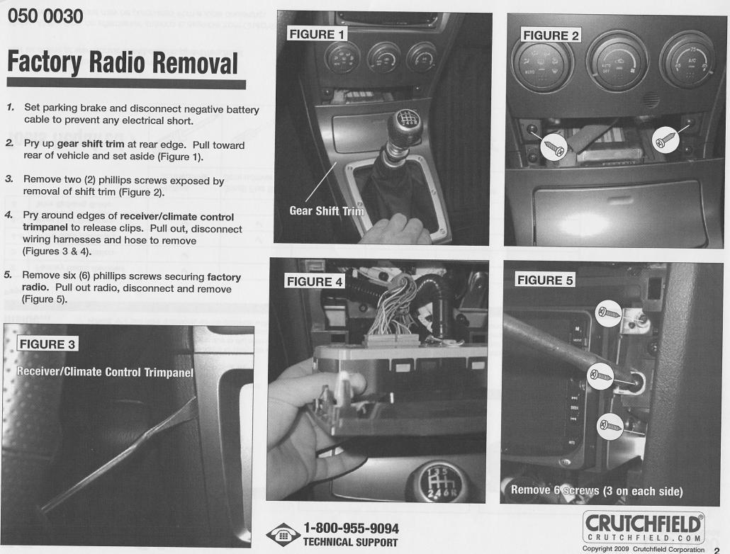 07 wrx radio removal pic