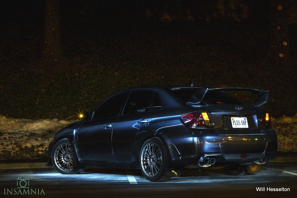 Some pictures taken at night of the WRX & STI. No Photoshop (Tricks)! Just some tricks of the trade by Insomnia himself.
