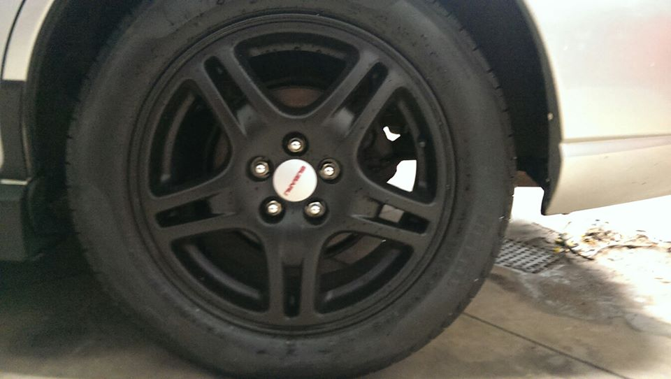 Closeup of rims