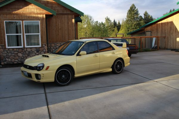 This is my 2002 WRX in Blaze Yellow