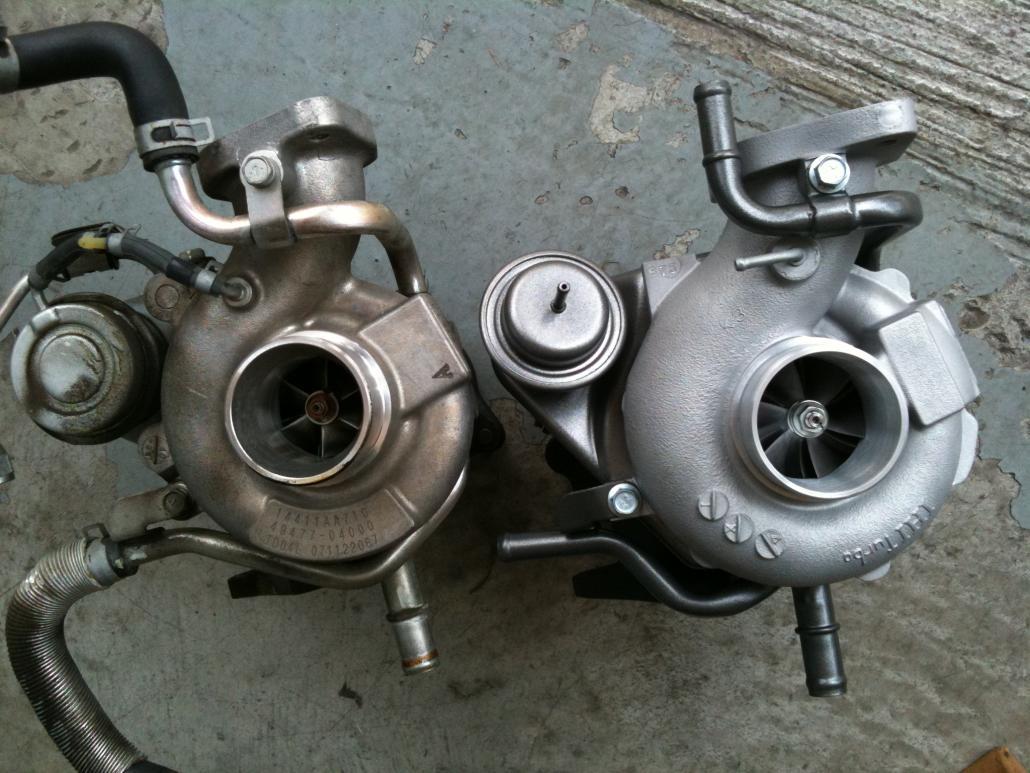 BNR TD05H-Evo16G vs. TD04L-13T compressors