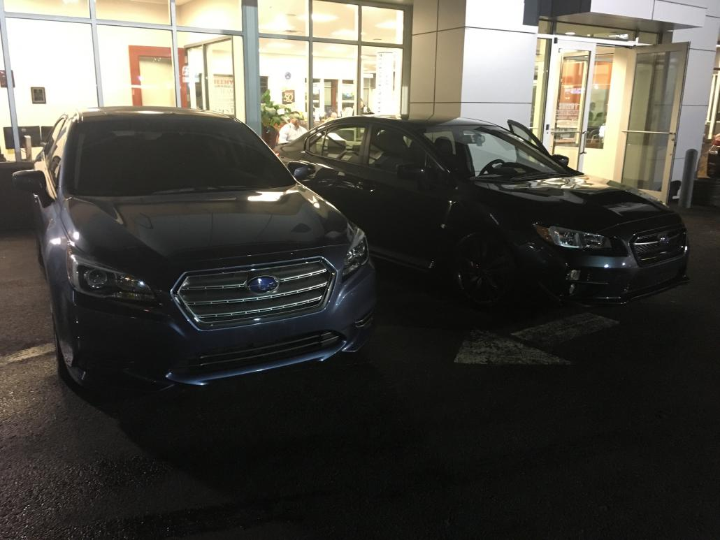 Beside the 2015 Legacy Premium I traded in.