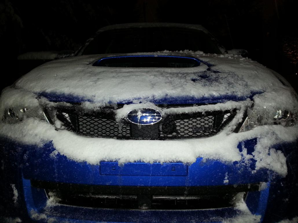 Blubaru's first snow