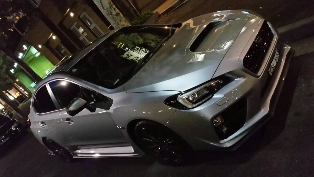 Two day old 2015 WRX Premium CVT in Ice Metallic Silver along with the WRX styling kit by STI.