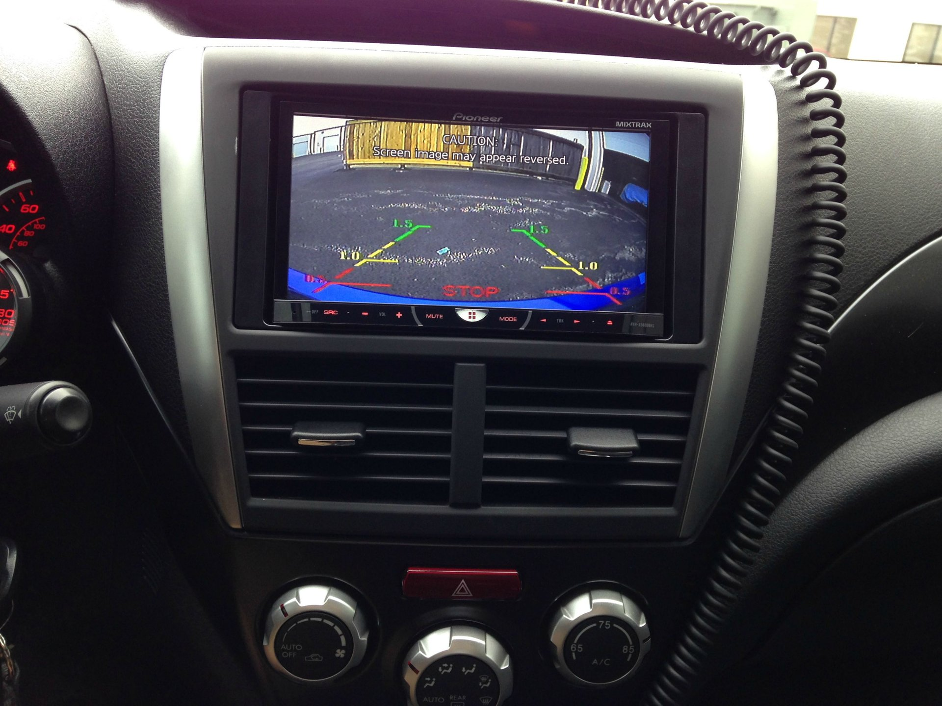 Backup camera install 2011 WRX Sedan. Pictures included ... on